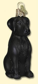 Old World Christmas Black Lab Ornament found at the ChristmasOrnamentStore.com!