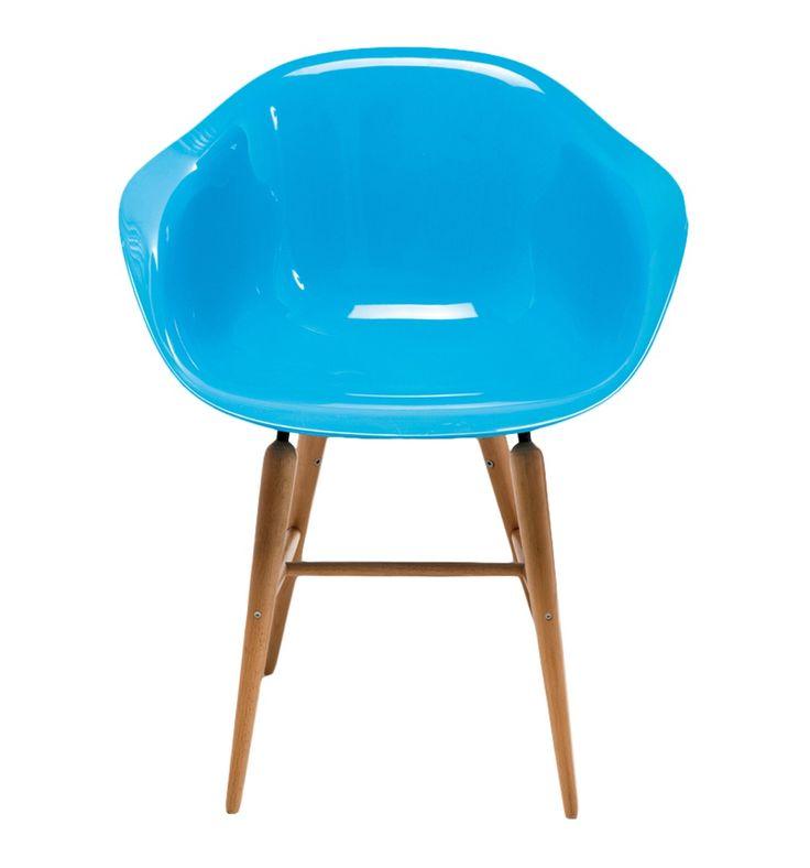 Sedia Forum Wood Blu Set/4 Kare Design