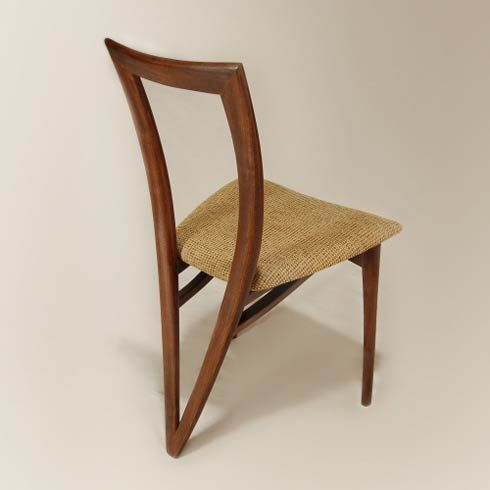Handmade Dining Chairs from Reed Hansuld might be something you'll like. With their unique design this sleek chair is available in a variety of domestic and exotic hardwoods, and features double tapered laminations, and mortise and tenon joinery.