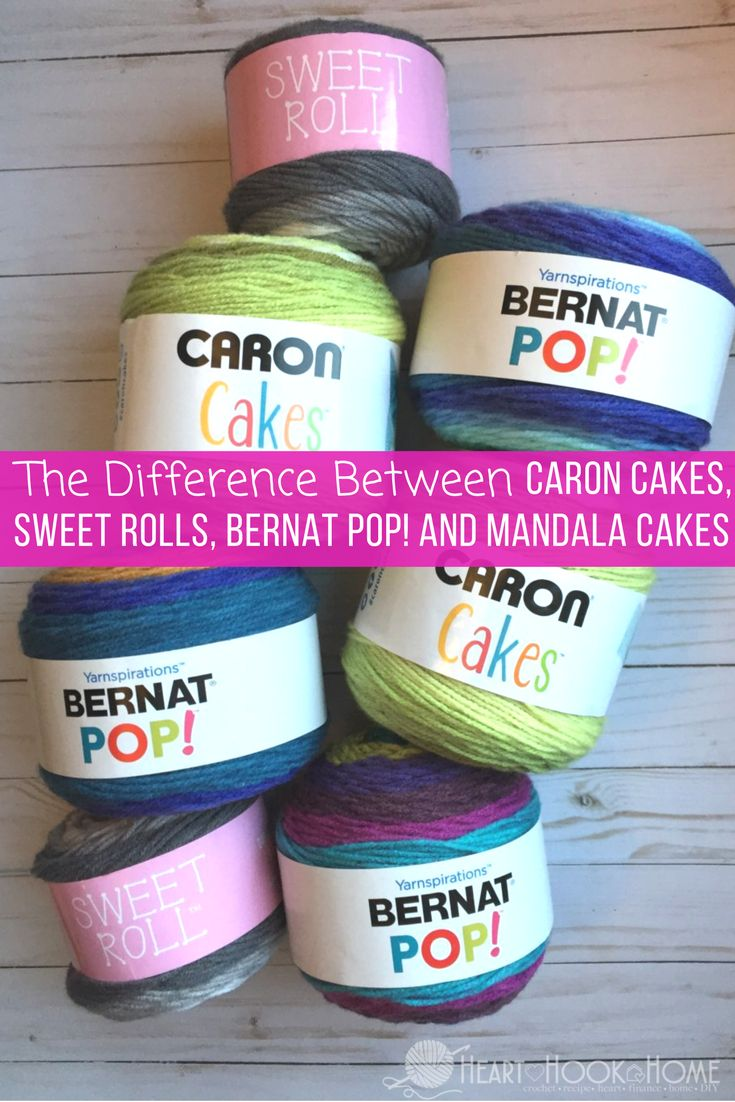 The Difference in Bernat Pop! Yarn Cakes, Caron Cakes, Mandala and Sweet Rolls http://hearthookhome.com/the-difference-in-bernat-pop-yarn-cakes-caron-cakes-mandala-and-sweet-rolls/?utm_campaign=coschedule&utm_source=pinterest&utm_medium=Ashlea%20K%20-%20Heart%2C%20Hook%2C%20Home&utm_content=The%20Difference%20in%20Bernat%20Pop%21%20Yarn%20Cakes%2C%20Caron%20Cakes%2C%20Mandala%20and%20Sweet%20Rolls