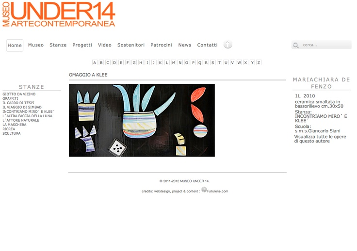 MuseoUnder14 - Artwork info Page www.museounder14.it