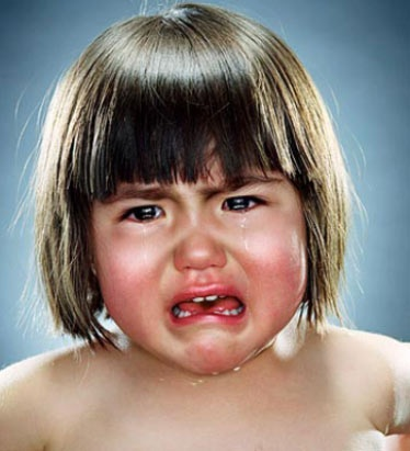 Crying Babies - Greenberg said that many of the children who remained happy and smiling throughout the shoot only began to cry when their parents told them it was time to go home. (Jill Greenberg)