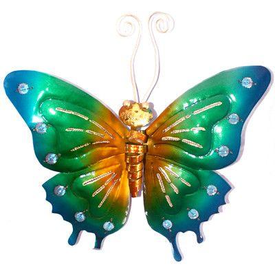 D-Art Collection Iron Butterfly Wall Décor & Reviews   Wayfair