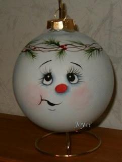 *SNOWMAN ~ Joyce's Tole Painting: Snowman Ornaments