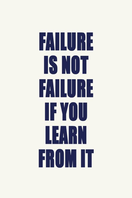 lessons learnt from failure 5 lessons to learn from a failing project sharifah azzurah october 20, 2014 general 4 comments 2,324 views projects do fail – no matter how big or small the scale of a project, and a project manager cannot avoid the risk of a failing project.