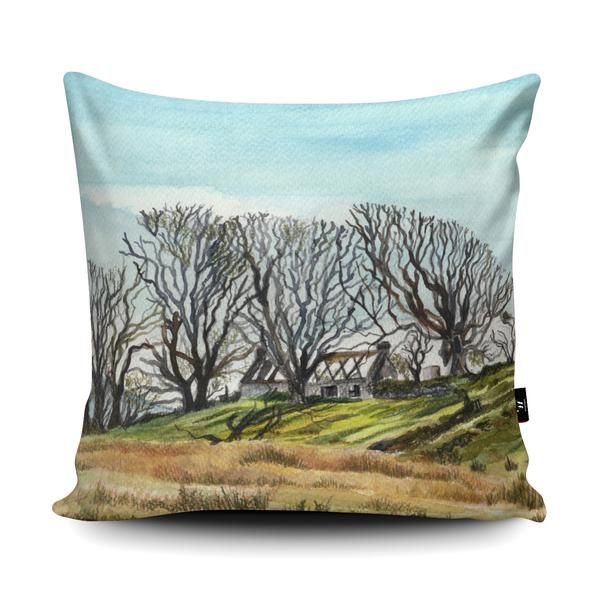My artwork of a cottage ruin in Connemara, Ireland features in a Cushion design competition. If you think it is good please could you click like on the Facebook post. Thank you so much! You can also buy the artwork on a cushion for a limited time: https://www.facebook.com/Wraptious/photos/pcb.1658757404186711/1658757257520059/?type=3&theater