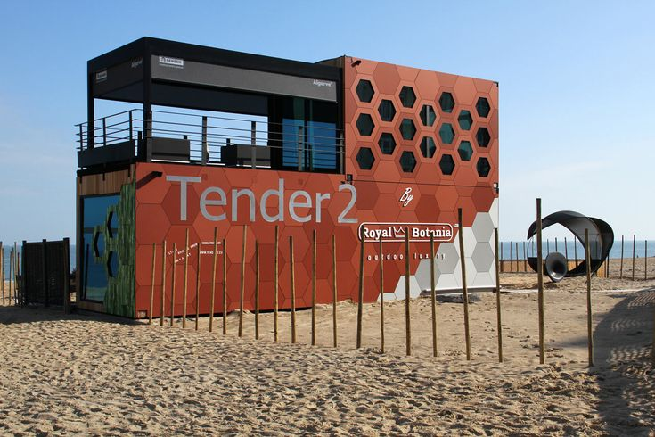 A Pop-Up Hotel: Tender2 by Royal Botania in Belgium #shippingcontainer #popup #hotels