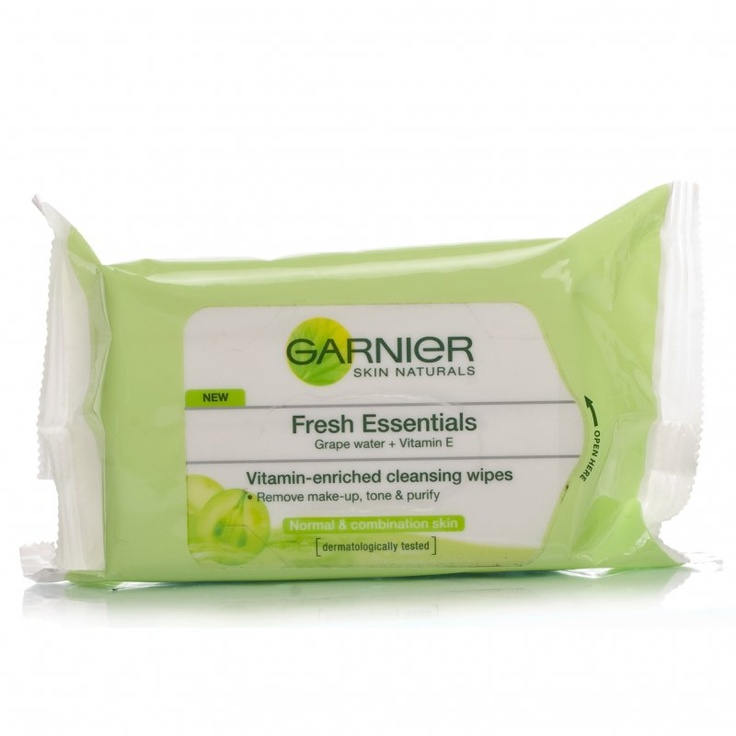Garnier - Cleansing wipes Fresh Essentials- amazing and don't sting your eyes- works for waterproof mascara