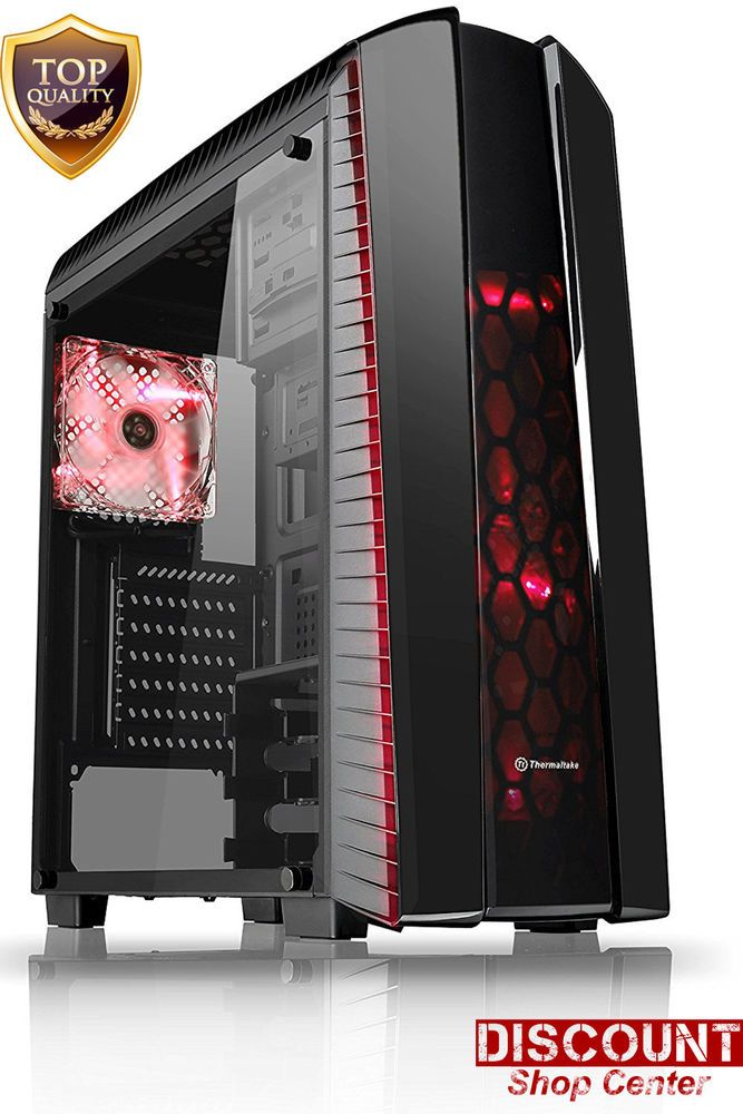 Details About Gaming Computer Pc Case Thermaltake Mid Atx Tower