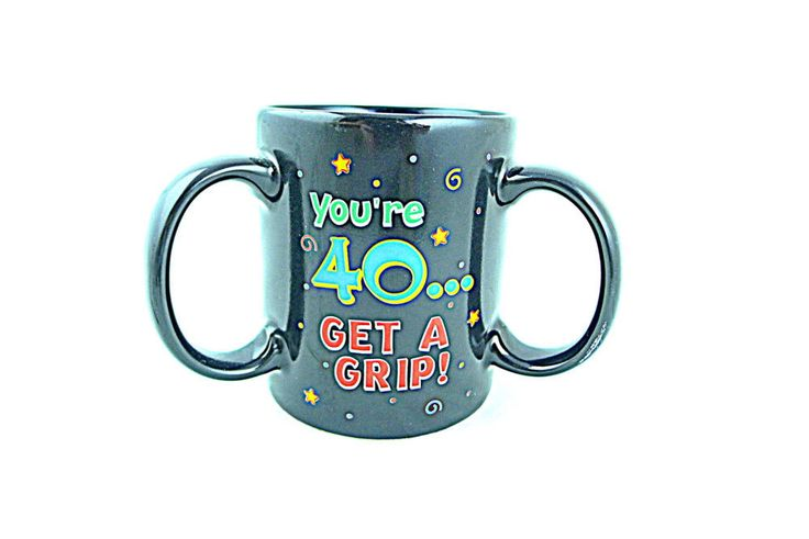 Happy Forty Fortieth Birthday Mug Three Handles Gift Idea 40 #PapelGiftware