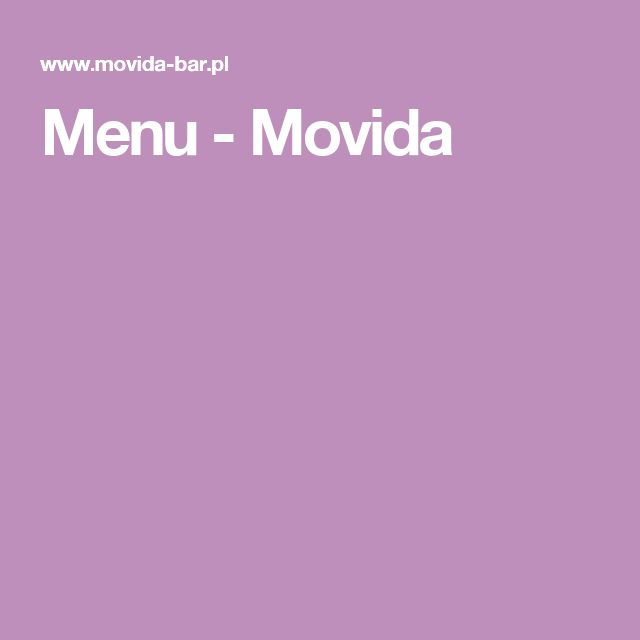 Menu - Movida