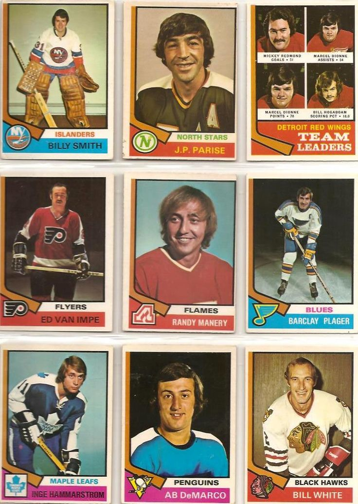 82-90 Billy Smith, J.P. Parise, Red Wing Leaders, Ed Van Impe, Randy Manery, Barclay Plager, Inge Hammarstrom, Ab DeMarco, Bill White