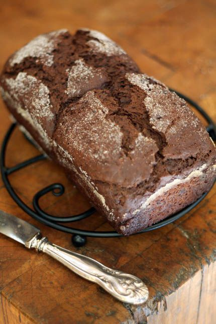 Yum - homemade chocolate bread.  Great with honey butter!