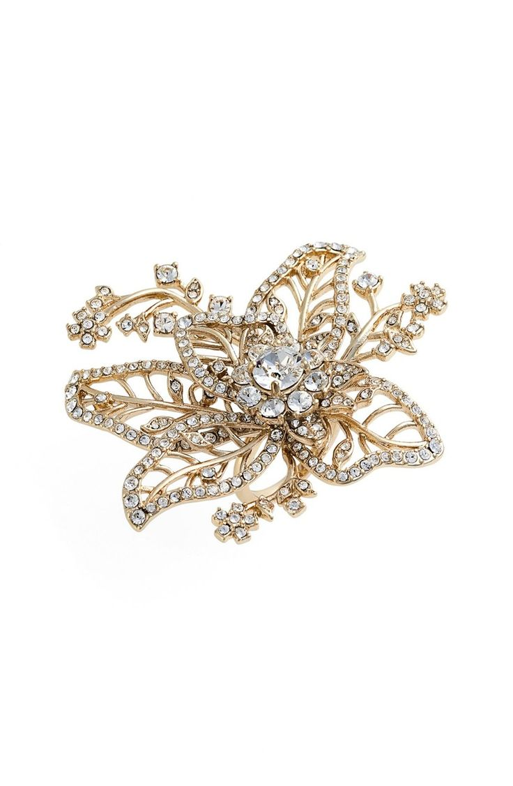 Main Image - Marchesa Crystal Flower Ring