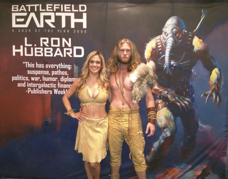 Dress rehearsal for Battlefield Earth release event with Aaron Groben as Jonnie and Lauren Compton as Chrissie. @BE_the_Book