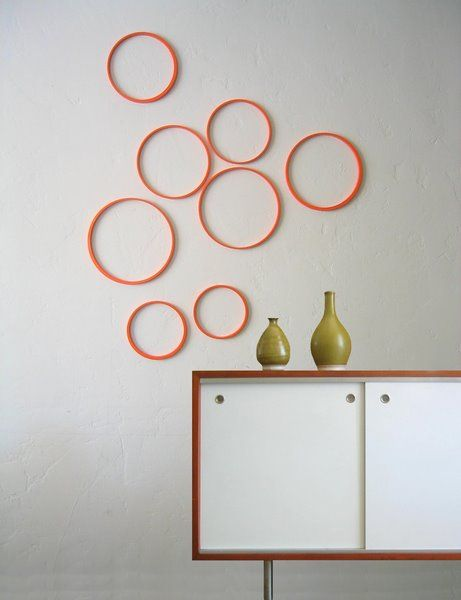 .: Wall Decor, Interiors Wall, Decor Ideas, Guest Bedrooms, Color, Bubbles, Wall Circles, Diy Wall Art, Embroidery Hoop