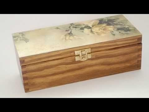 Decoupage  krok po kroku - pudełko na herbatę - poradnik - YouTube