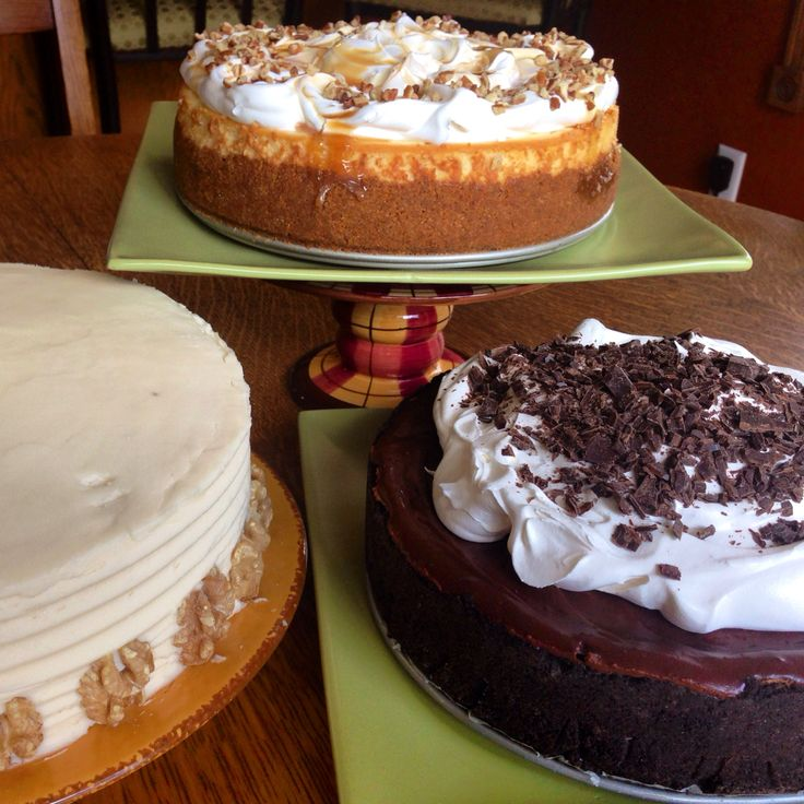 Caramel Apple Cheesecake, Mississippi Mud Pie, & Carrot Cake. All ...