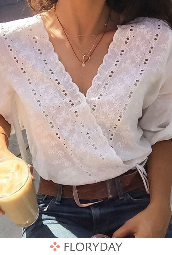 Women's Clothing 2016 New Fashion Ladies White Blusas Womens Long Sleeve Cotton Lace Crochet Tops Blouses Women Clothing Feminine Blouse