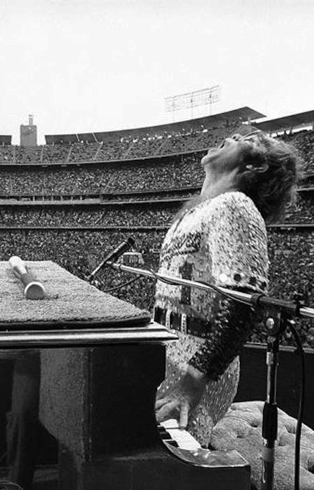 Elton John - Dodger Stadium 1975 by Terry O'Neill