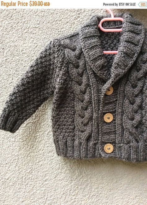 03e1b5e50 Grey Knitted Baby Cardigan
