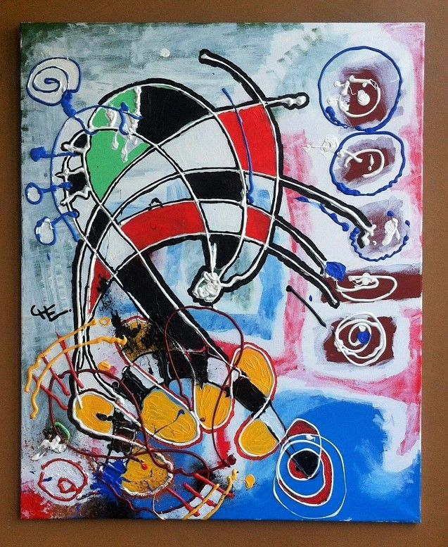 """""""REINA DE AJEDREZ"""" (Chess Queen) by Chilean artist Che Lagomarsino. Acrylic paint on canvas (2014). 40x30 inches #artche #southandsoul #artfromchile"""