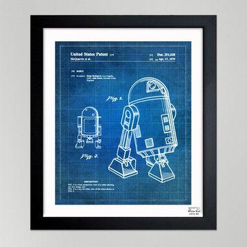 Oliver Gal poster: Robot 1979 II.: Robots, Framed Art Prints, Star Wars, Oliver Gal, Starwars