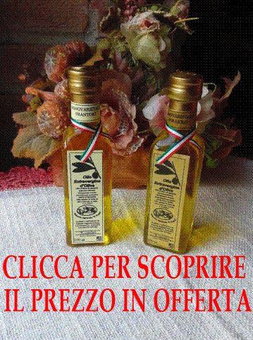 Confezione con una bottiglia di Olio Extravergine di Oliva da olivo Frantoio 100 ml + una bottiglia di Olio Extravergine di Oliva da olivi Moraiolo 100 ml Ottimo per grigliate di carni bianche o rosse OFFERTA SPECIALE € 10,40 IVA INCLUSA