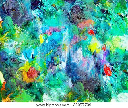 Abstract Expressionism  - Colorful #abstract painting