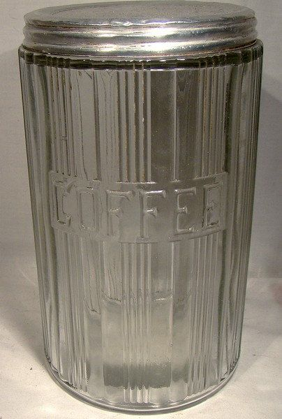 Vintage HOOSIER Type Glass COFFEE Kitchen by FionaKennyAntiques, $39.00