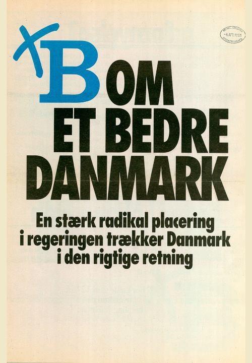 I Storkreds Sjælland kan du sætte dit kryds ved mit navn.  I resten af Danmark kan du sætte dit kryds ved B (som i: BEDST).