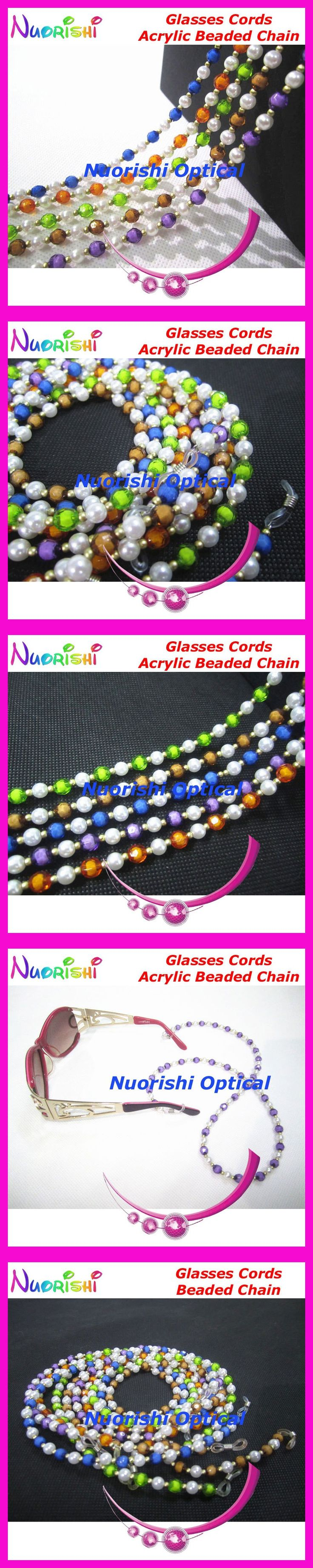 10pcs L804B Color Acrylic Nice Beaded Eyeglasses Sunglasses Eyewear Spectacle Chain Cords Lanyard free shipping $12.8