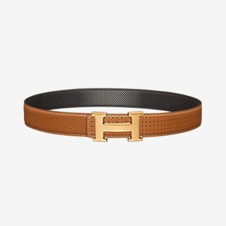 H belt buckle & Kadence reversible leather strap 32 mm