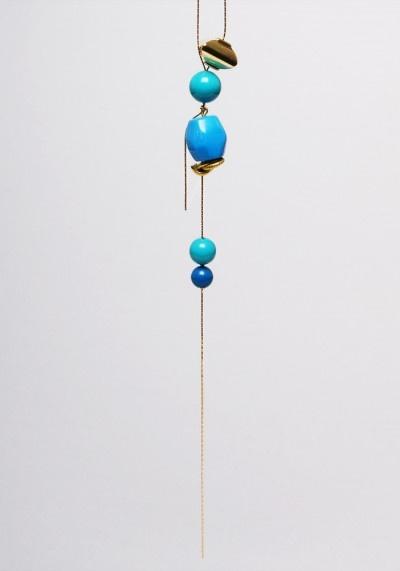 """Les Clèms necklace """"Golden teardrops"""""""