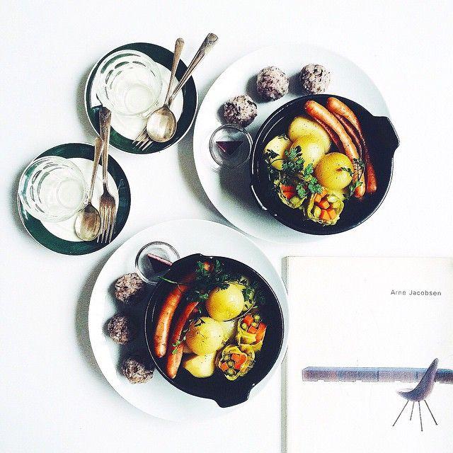 Pot-au-feu & mixed grains onigiri. ポトフ & 雑穀おにぎり#riceballs  #ペコロス…