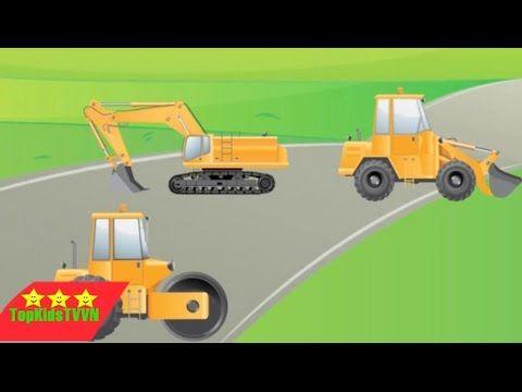 topkidstvvn-Game cần cẩu máy xúc cho bé -Digger Puzzles for Toddlers