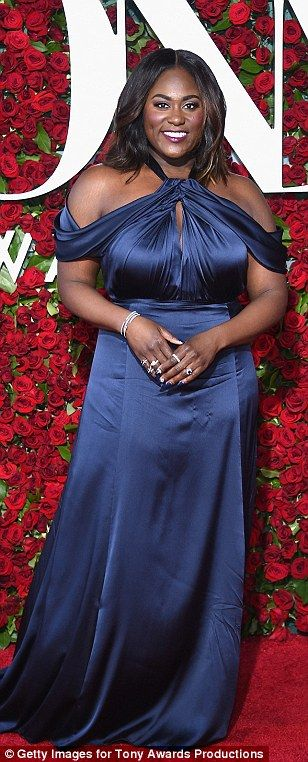 Beauties in blue:Jessica Lange, Uzo Aduba and Danielle Brooks looked amazing in their blue gowns