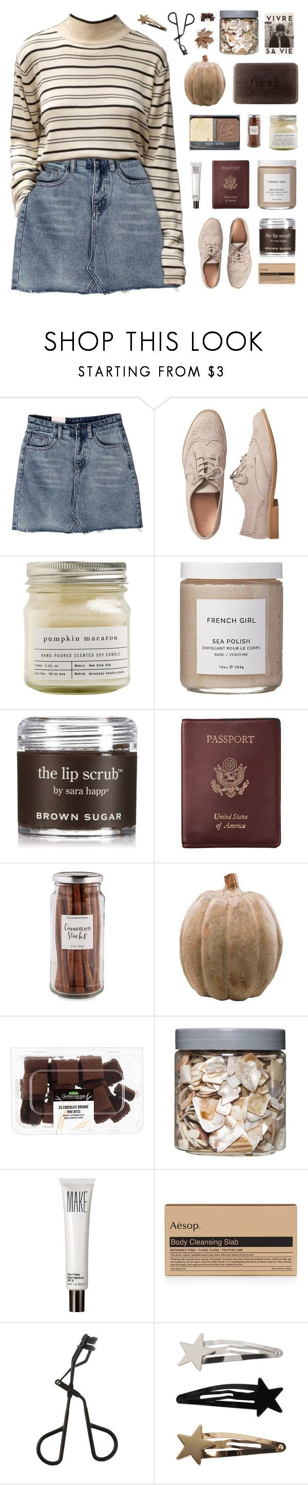 """「68.」"" by moonbeam-s ❤ liked on Polyvore featuring Gap, Brooklyn Candle Studio, French Girl, Sara Happ, Royce Leather, Williams-Sonoma, Smith & Hawken, Threshold, Make and Aesop"