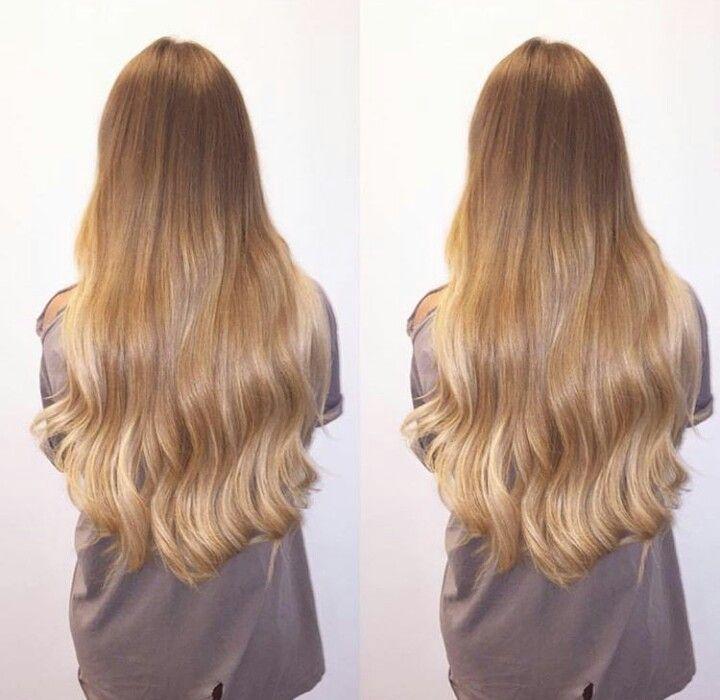 Blonde long hair #ombre #niykeeheaton