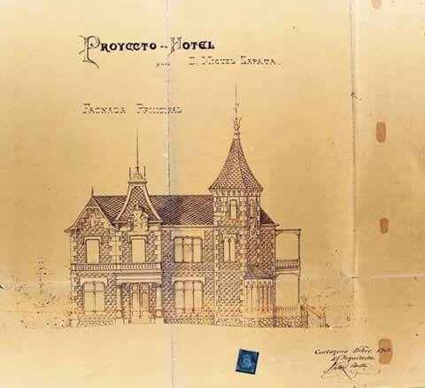 Dibujo exterior colegio Carmelitas