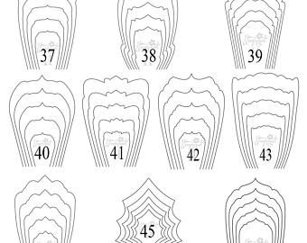 all 20 pdf svg diy giant paper flower template paper pinterest