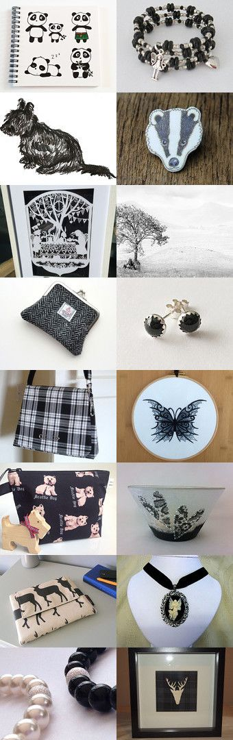 Black and white goodies from @IheartScotland team by Karen Salveta on Etsy--Pinned+with+TreasuryPin.com