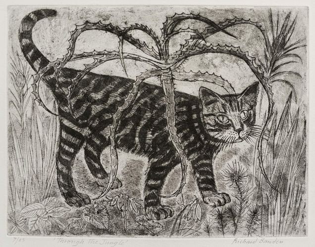 'Through the Jungle' by Richard Bawden (etching)