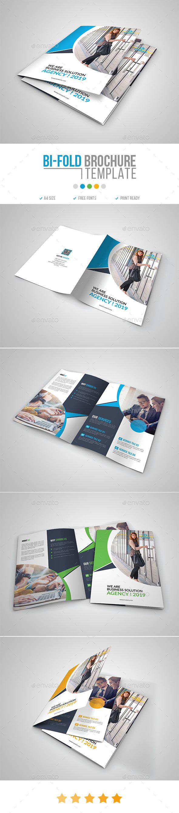 Corporate BiFold Brochure Template 16 #bifold #corporate  • Download here → ...