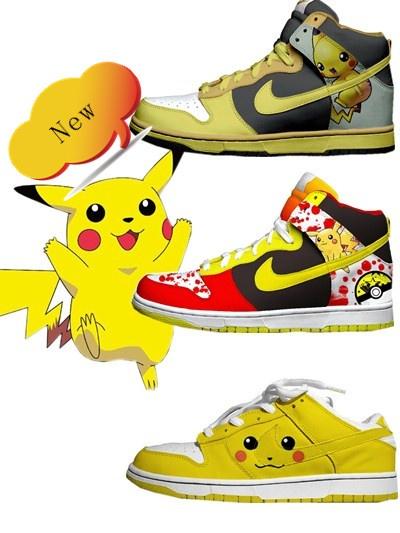 new concept f9879 1d55f Pikachu Nike Dunks Pokemon High Tops Shoes For Adults Cool High Tops Nikes  Dunks Adidas Pichu Pikachu Nike Dunks!