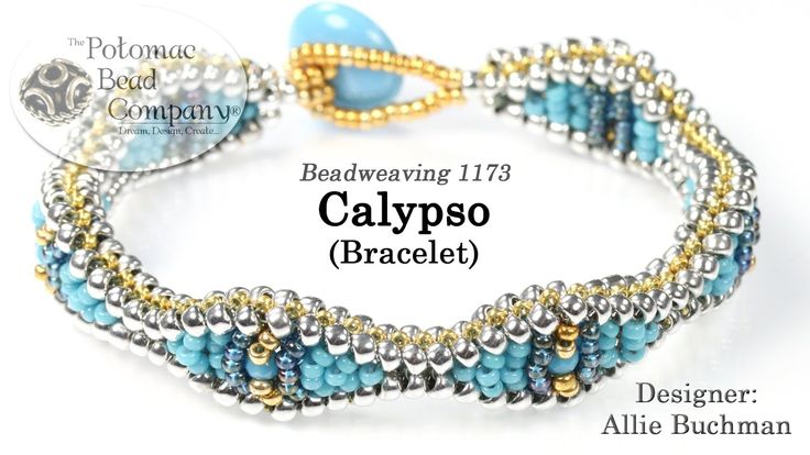 "In this video tutorial from The Potomac Bead Company, Allie teaches you to make her new ""Calypso Bracelet."" Find a list of supplies in the description below...."