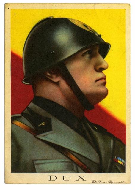 Il Duce Mussolini Cartolino Italiano