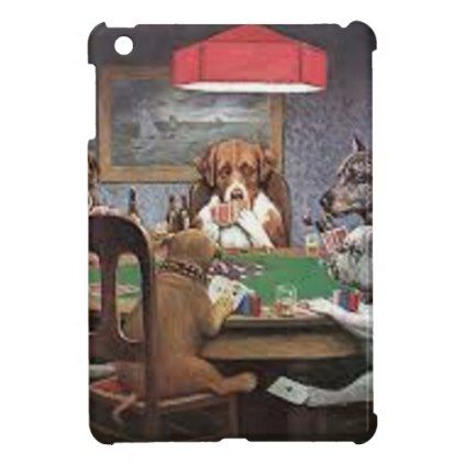 Dogs Playing Poker iPad Mini Cases - dog puppy dogs doggy pup hound love pet best friend