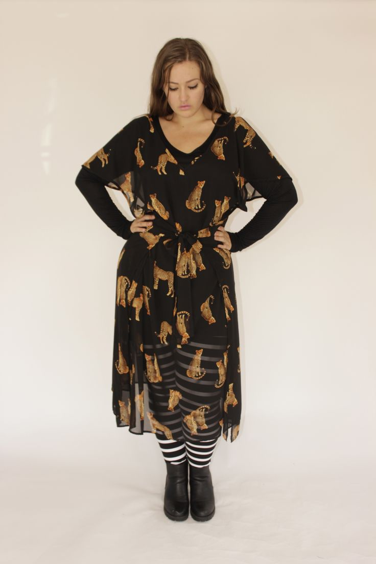 SJ PINNY DRESS - LEOPARD