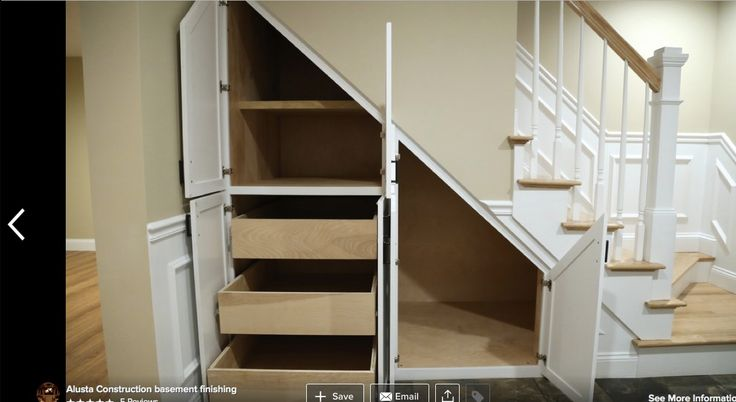Under stairs great use of space especially the drawers for Under stairs drawers plans